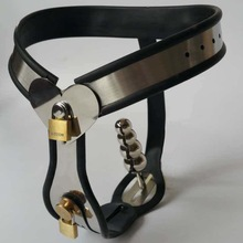 Stainless Steel Female Adjustable Size Chastity Belt, Chastity Device, T type Chastity lock, BDSM Sex Toys, Adult Game