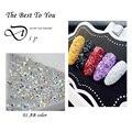 New 1440Pcs Tiny Mini Rhinestone Micro Diamond 3D Nail Rhinestones Decoration DIY Crystal Pixie Nail Art Beauty Accessories Tool