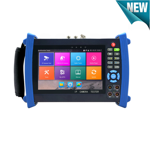 Retina Screen 8MP TVI 4K H.265 IP Camera CVBS TVI AHD CVI CCTV tester monitor with Multi-meter ,Optical power meter,Cable tracer