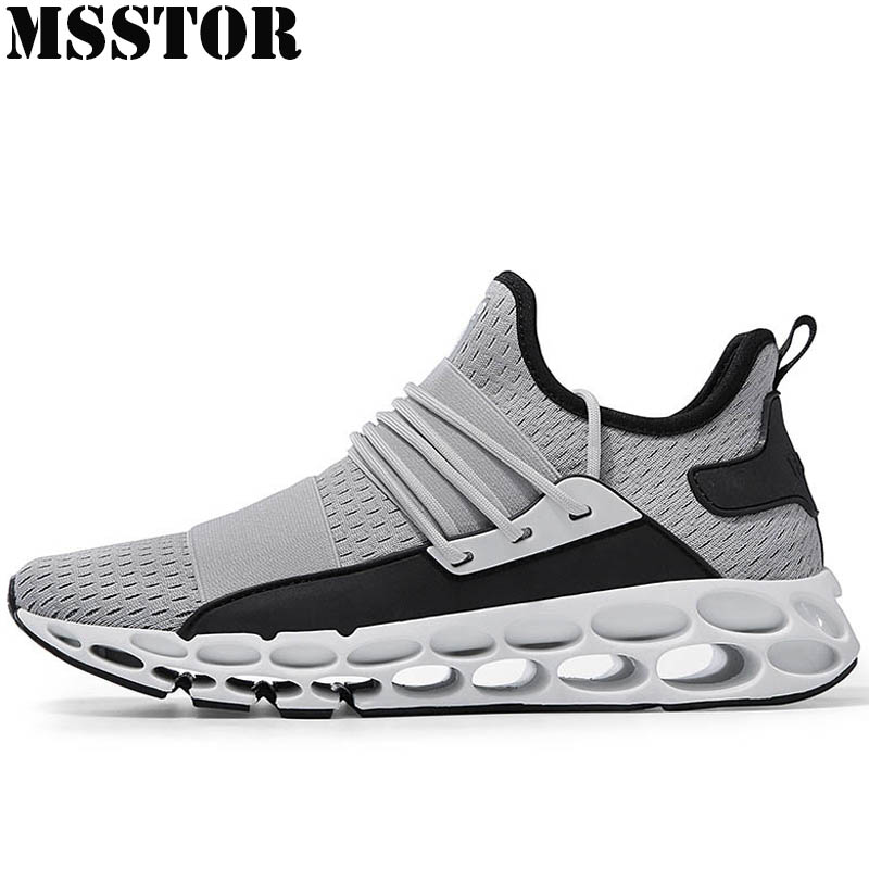 MSSTOR 2018 Men New Running Shoes Man Brand Sports Run Summer Breathable Mesh Sport Shoes For Men Outdoor Athletic Mens Sneakers msstor women running shoes summer breathable mesh sport shoes for woman brand outdoor athletic sports run womens sneakers 35 40