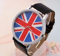 классические модные флаг великобритании кожаным ремешком для женщин дамы платье кварцевые наручные часы часы relojes мухер подарок go011