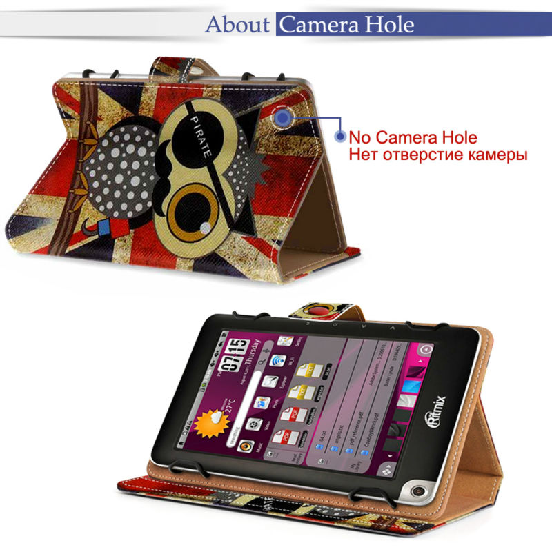 best service 162c3 87812 US $18.99 |Leather tablet case For Alcatel one touch Pixi 3 10.1 / OT pop  10 Universal Printed Stand case For Archos 101d Neon large size-in Tablets  & ...