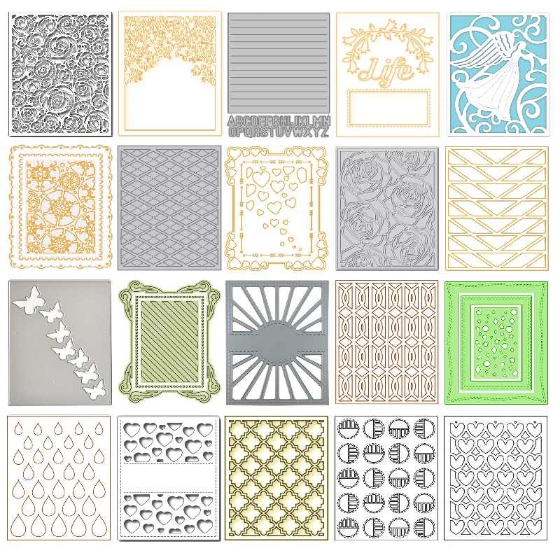 Different Background Metal Cutting Dies for Scrapbooking Die Cut 2019 New Arrival