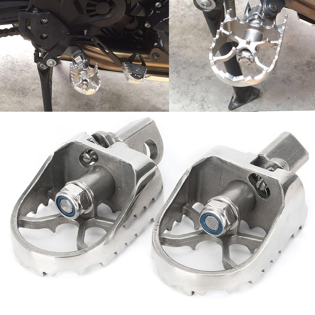 Motorcycle Rotary Foot Pegs Footpegs Pedals For KAWASAKI Versys 650 2007 2008 2009 2010 2011 2012 2013 2014 2015 2016 Stainless цена