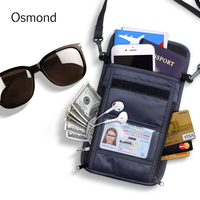 Osmond Waterproof ID Card Holder Travel Passport Cover Wallet Men Coin Purse Organizer Multifunction Money Bag