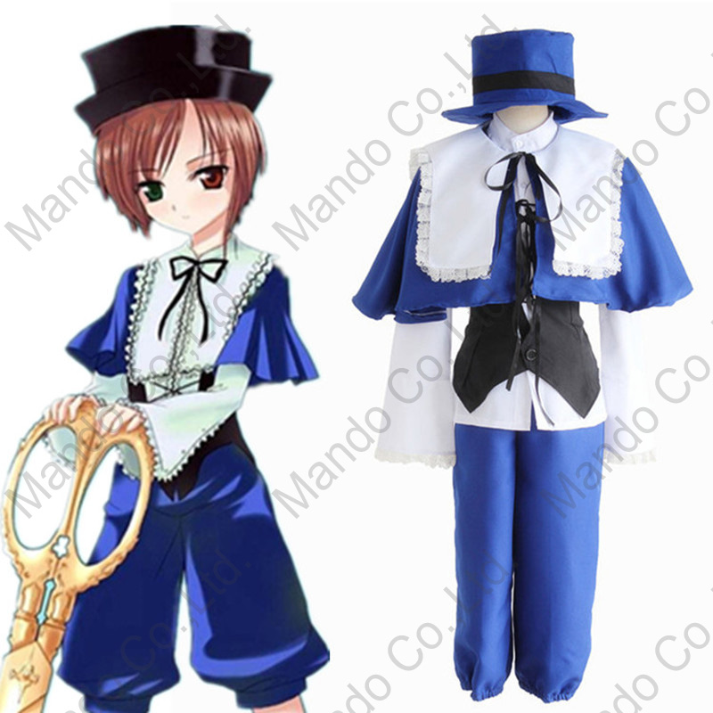 Anime rozen maiden Souseiseki Lapislazuli Stern Cosplay Costume Girls Blue Fancy Dress Women Halloween Cosplay Party Outfit