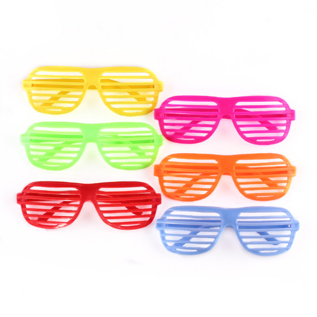 cdfe8757f32 1 Pairs Fashion Plastic Shutter Shades Glasses Party Decorative Sunglasses  Eyewear Halloween Club Party Cosplay Props Supplies