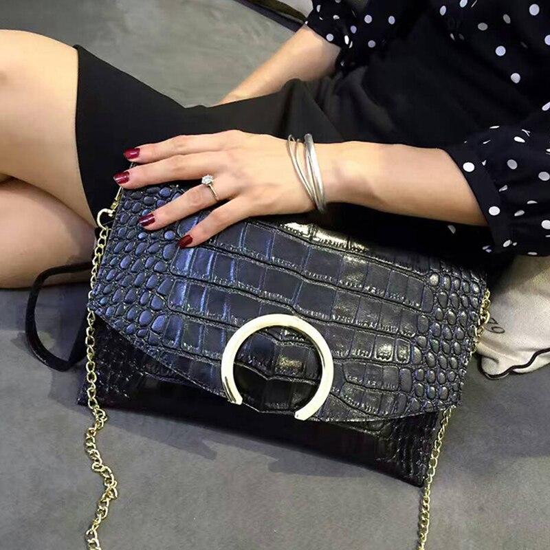 Mode Krokodilkorn frauen Handtasche Leder Frauen Alligator Umschlag Kupplungen Abendtasche Designer Marke Shoudler Tasche-in Kupplungen aus Gepäck & Taschen bei  Gruppe 2