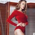 Sexy Mulheres Skinny Chic Sexy shapers Bodysuit Nova Chegada Mousse Preto/vermelho Elegante Das Mulheres Quentes Shapewear