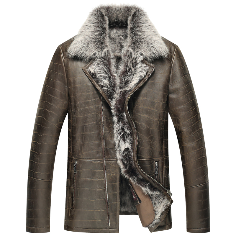 Popular Shearling Leather Jacket Men-Buy Cheap Shearling Leather ...