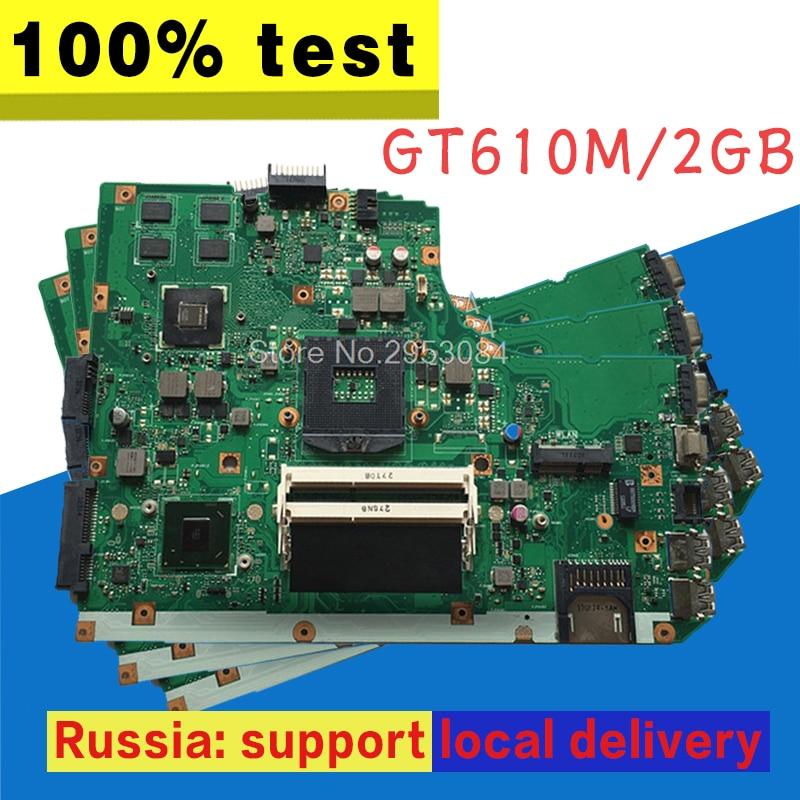 K55VD Motherboard REV 3.1 GT610M 2GB USB3.0 For ASUS K55VD Laptop motherboard K55VD Mainboard K55VD Motherboard test 100% OK k55vd laptop motherboard for asus 8pcs video card rev3 0 k55vd mainboard full tested