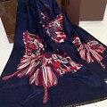 2016 мода теплая зима шарф люксовый бренд женщины дизайнер кашемир шарф чешуекрылых набивные платки и шарфы двусторонняя пончо