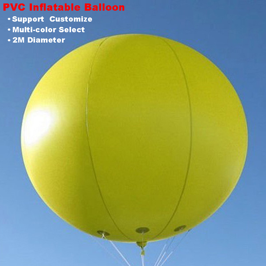 Advertising Inflatable Balloon 0.18mm PVC 2M Giant Sky Balloon Round inflatable sphere support customize Multi color Select