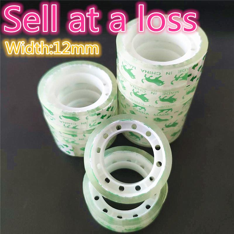 12mm Small Office S1 Transparent Tape Students Adhesive Tape Packaging Supplies Drop Shipping Free Shipping