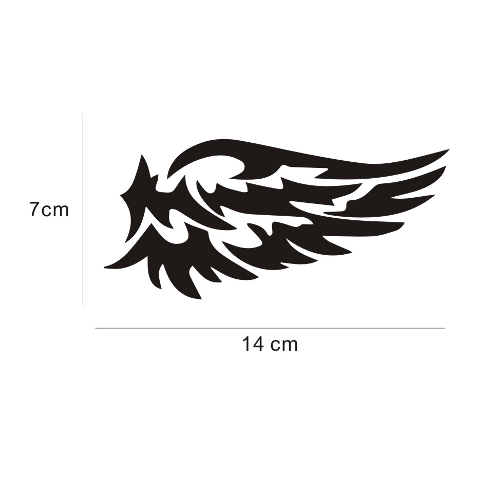 Автомобильные наклейки s 14 см* 7 см, крылья ангела, прекрасные автомобильные мотоциклы, украшения, 3D Светоотражающие Водонепроницаемые, купить 2, сохранить половину, стикер на заказ