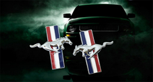 3D metal Mustang Running Horse car emblem Side Badge stickers For Ford Mustang Badge Logo Decal Car styling Free Shipping