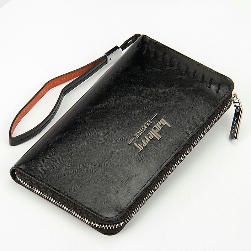 retro thread men long wallet Oil wax leather zipper vintage male purse student coin card clutch bag wrist strap for bisiness retro wallet for men genuine leather vintage brand male clutch bag design removed coin purse zip