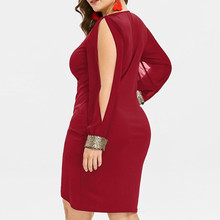 Women Dresses Long Sleeve Sequin Plus Size Keyhole Neck Ring Slit Bodycon Dress Elegant Casual Party Dress Women