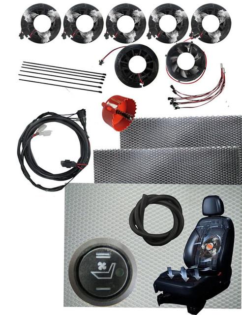 12 V ventilación del asiento de coche/calefacción, Sistema de Ventilación, Además de Asiento Del Asiento Del Automóvil Kit Más Caliente Reducir AC + gasolina consumpt