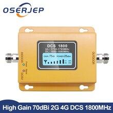 Gsm Lte Tăng Áp 1800 Màn Hình LCD Hiển Thị 70dB Tăng 2G 4G LTE Di Tăng Áp DCS 1800MHz Di Động điện Thoại Khuếch Đại GSM Tăng Cường Tín Hiệu