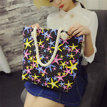 Sale New 2016 Fashion Starfish Patton Canvas Bag Women Handbag Shoulder Bags Famous Brand Women Messenger