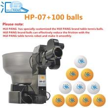 Huipang hp 07 máquina do robô do tênis de mesa + 100 bolas de tênis de mesa do ping pong equipamento de fitness ao ar livre equipamento de treinamento esportes