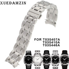 22/23/24mm T035407A T035617A New Watch Parts Male Solid Stainless steel bracelet strap Watchbands For T035614A/T035627