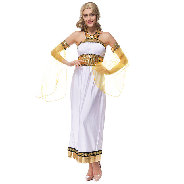 Vestido blanco griego guggino