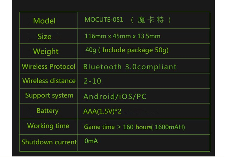 Bluetooth 3.0 Remote Controller Wireless Shutter Game Gamepad For 3D VR Glases Shinecon TV Box iPhone IOS Samsung Android(15)