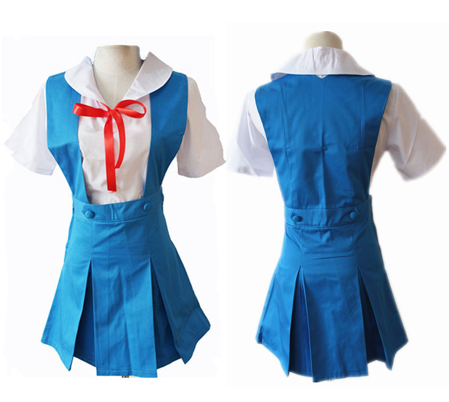 Anime Neon Genesis Evangelion EVA Cosplay Costume Ayanami Rei Soryu Asuka Langley School Uniform Full Set