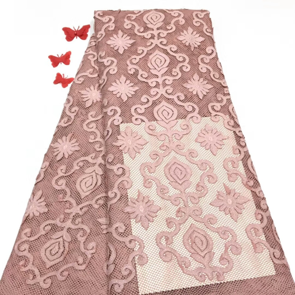 Home & Garden Cassiel 2019 Latest Nigerian Laces Fabrics High Quality African Laces Fabric For Wedding Dress French Tulle Lace Onion Color Convenient To Cook