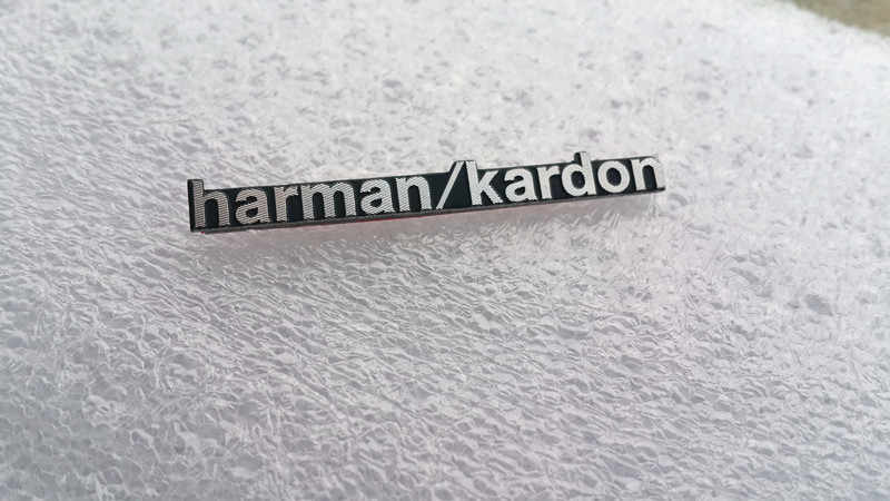 Altavoz harman/kardon Hi-Fi, 4 unidades por lote, altavoz de audio 3D con emblema de insignia de aluminio, pegatina estéreo, 43x5mm