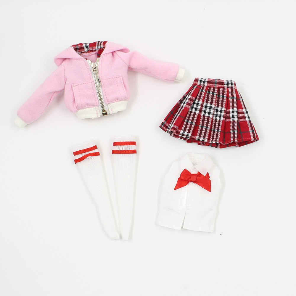 blyth clothes for pink and red uniform it suitable for 1/6 30cm ICY joint normal Azone body doll