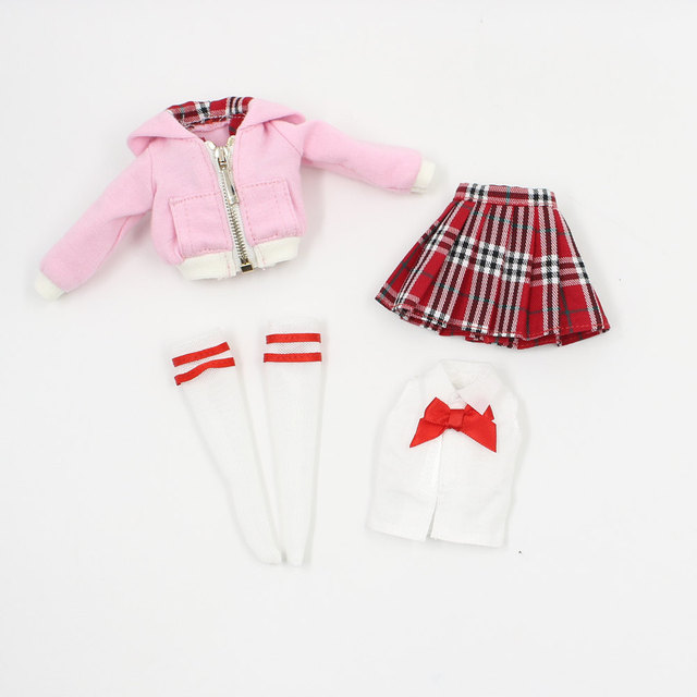 Cute School Uniform For 1/6 Doll
