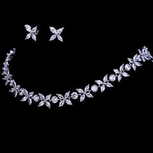 Image 4 - Emmaya цирконы потрясающие кристаллы ожерелье и серьги роскошный свадебный набор ювелирных изделий для вечеринки свадебный вечерний подарок