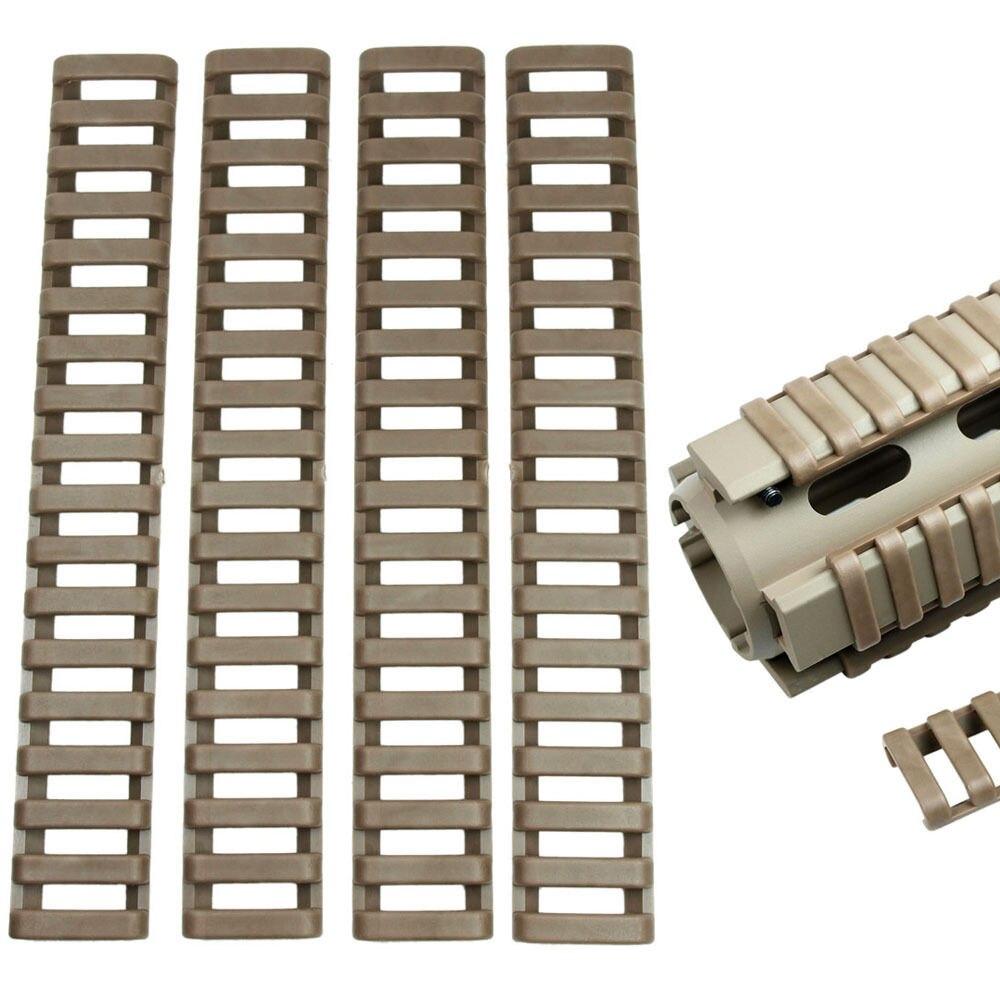 Funpowerland  Heat Resistant Handguard Weaver Picatinny FDE Rail Ladder Cover