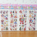 3 Pcs/lot Creative Cartoon Cute Christmas Santa Claus Refrigerator Wall Toilet Switch Panel Window Stickers Home Decor TZ79