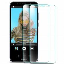 2 pcs กระจกนิรภัยสำหรับ Huawei Y5 Y6 Y7 Y9 Y3 2018 Prime Pro ป้องกันแก้ว HUAWEI Y3 II y5 II Y6 II 2017 ป้องกันหน้าจอ