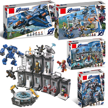 Superheros Avengers 4 Compatible Legoinglys Marvel Avengers Endgame Figures Building Blocks 76131 76124 76125 76126 Bricks Toys
