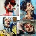10 estilos diferentes abstratos faca homem rosto 100% pintados à mão nova pintura a óleo popular sobre tela andrew salgado reprodução arte