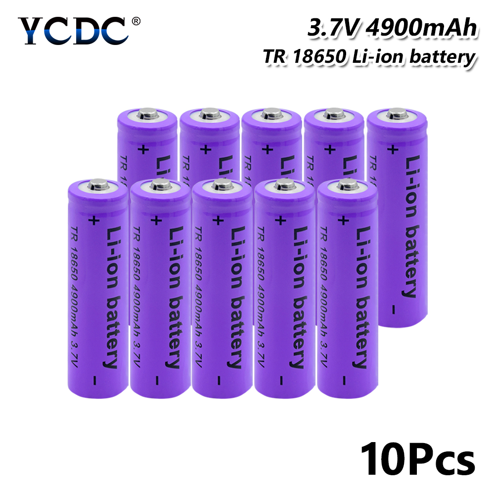YCDC 100% original 18650 battery rechargeable battery 3 7V 4900mAh Li-ion  Rechargeable Cell For LED Flashlight Torch