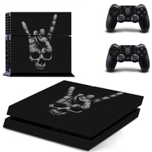Skull Vinyl Cover Decal PS4 Skin Sticker for Sony PlayStation 4 Console & 2 Controller Skins for PS4 Accessories