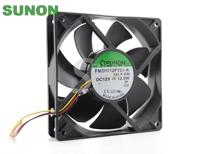 Sunon PMD1212PTB1-A  (2).F.GN 120mm x 25mm 12V 12.0W 3pin 150CFM Case Fan sunon ac 220v aluminum cooling fan 120 x 120 x 25mm computer