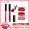 Marca FOCALURE Pro maquillaje líquido impermeable lápiz labial batom tinte terciopelo rojo verdadero Marrón mate pintalabios colorido Maquiagem