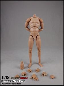 Image 5 - BD001/BD002/BD003/BD004/BD009/BD010 1/6 мужские стандартные мышцы тела узкие плечи 2,0 Мужской 27 см/25 см модель для 12 фигуры