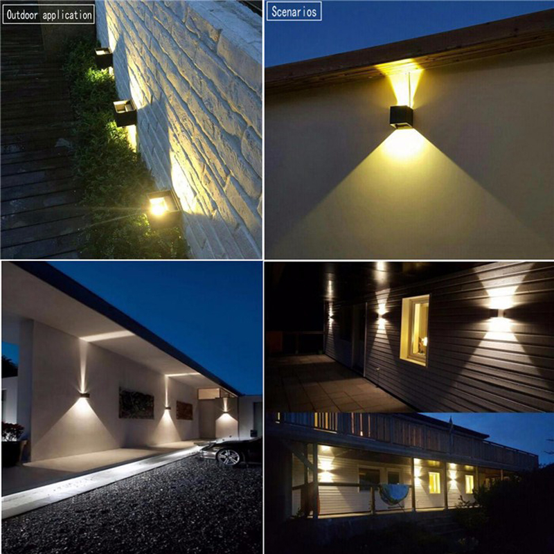Modern Waterproof 12W COB indoor outdoor Led Wall Lamp Aluminum Adjustable Surface Mounted Cube Led Garden Porch Lighting