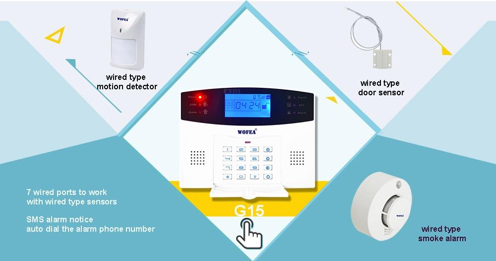 Wofea Photoelectric Smoke Detector Sensor Wired Smoke alarm fire ...