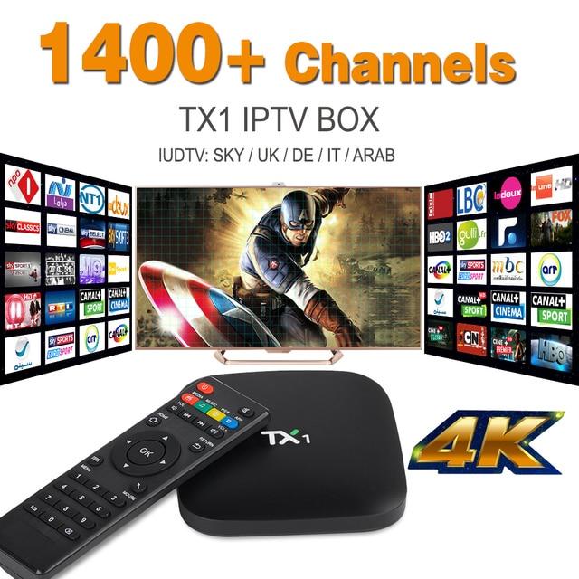 Quad Core Arabic IPTV Android TV Box with 1 Year European IPTV Italy UK Account Live TV Preload Tv Box IUDTV IPTV Free shipping