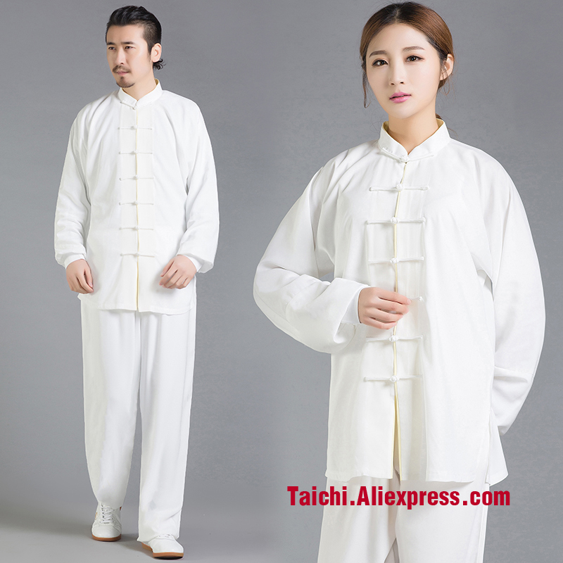 Male & Female Handmade Linen Tai Chi Uniform Wushu, Kung Fu,martial Art Suit  Chinese Stly  Meditation Clothes Multiple Colour painted handmade linen tai chi uniform taijiquan female clothing summer short sleeved wushu kung fu jacket pants
