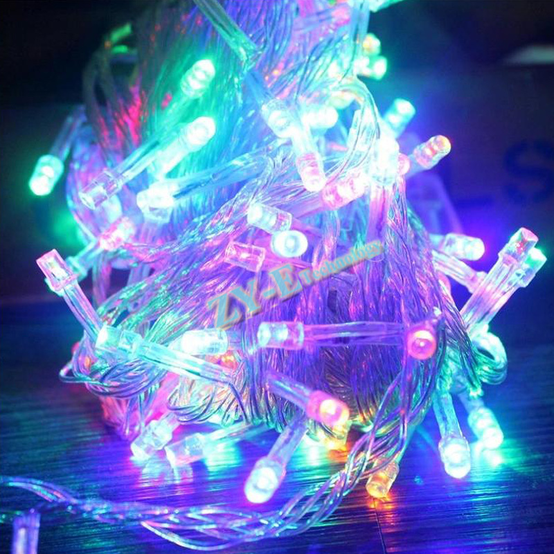 20pcs 100M Waterproof <font><b>220V</b></font> 600 <font><b>LED</b></font> holiday String lights for Christmas Party Fairy Colorful Xmas <font><b>LED</b></font> String Lights by dhl fedex image